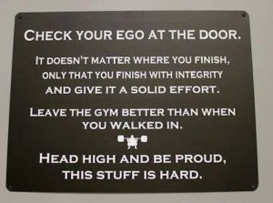 Leave your ego at the door Physical Movement